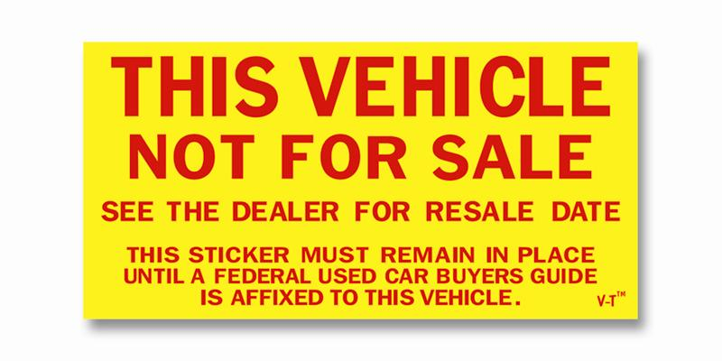 Vehicle Not For Sale Sticker Wheel Skins Wheel Covers