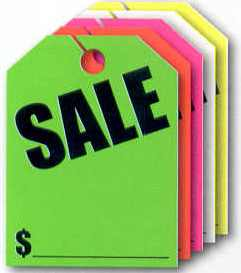 Mirror Hang Tags Sale Automotive Dealer Supplies L Nys