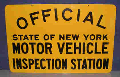 Nys motor vehicle inspection sign automotive dealer for Motor vehicle inspection station