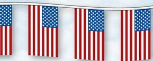 50' Cloth US Flags Streamer