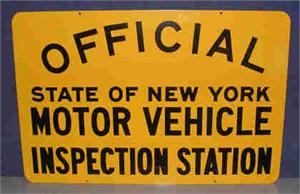 Nys motor vehicle inspection for Motor vehicle inspection station