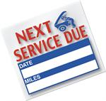 Service Reminder Sticker