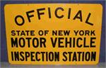 NYS Motor Vehicle Inspection Station Sign