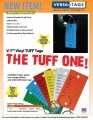 Vinyl Tuff Key Tags - 500 Ct w/rings
