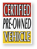 Jumbo UnderHood Signs -CERTIFIED