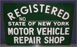 Registered State of New York - Motor Vehicle Repair Shop