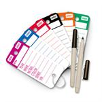 Key Tags - Top Stripe  250 per box, rings & 2 pens included